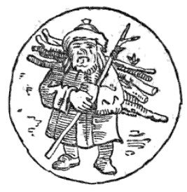 A 19th century German depiction of the Man in the Moon