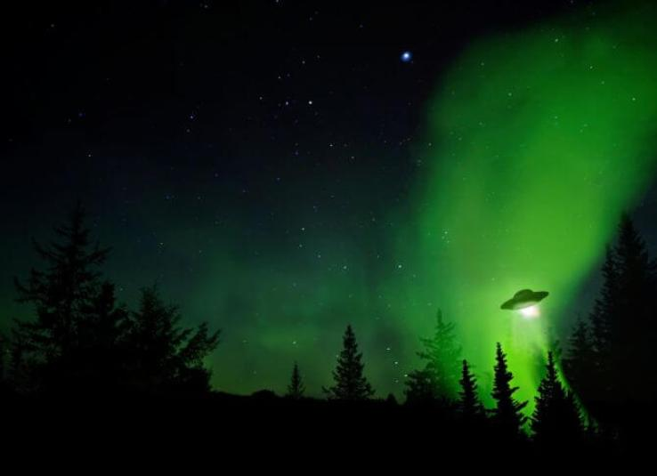UFO in night sky