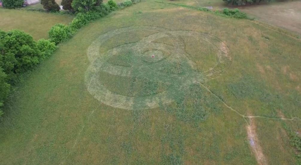Crop Circle appears in Gray, Tennessee