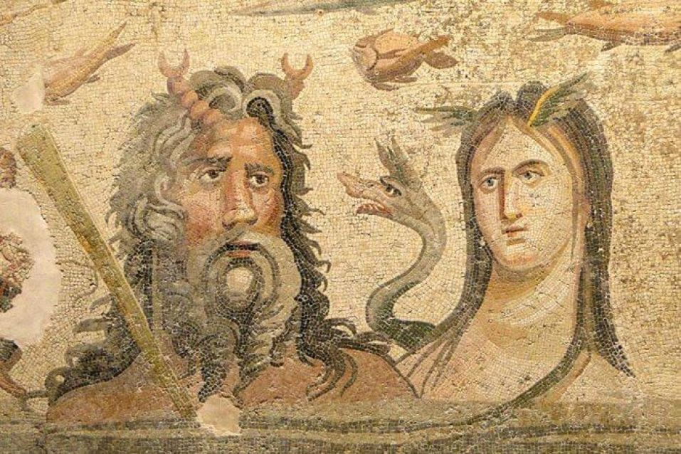 Pictured here are Oceanus and Tethys, Ancient Greek and Roman ocean deities