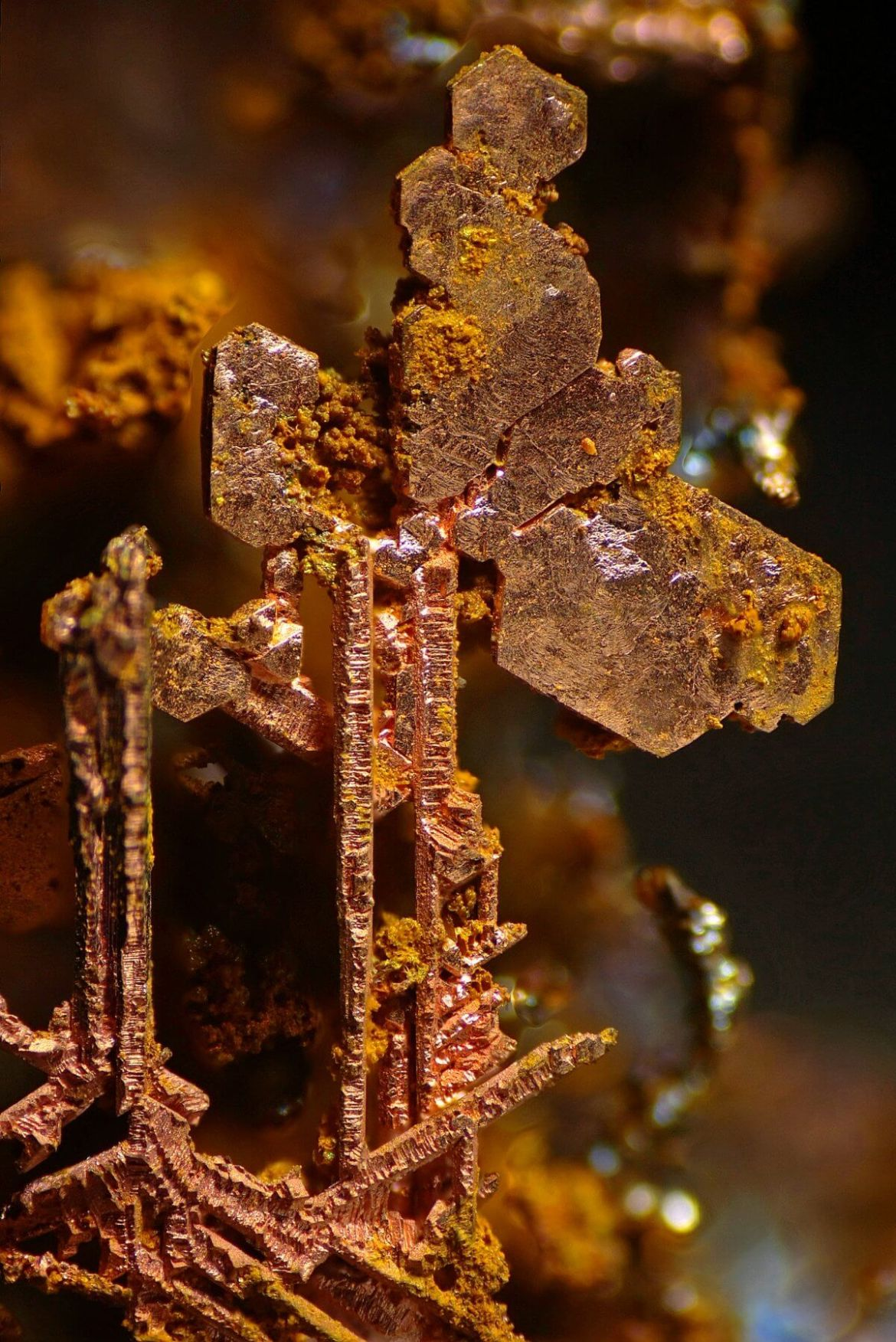 Copper crystals
