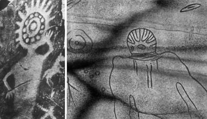 8 Cave Paintings depicting Aliens