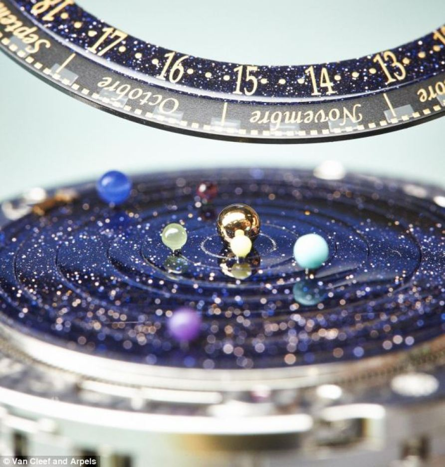 The magnificent Complication Poétique Midnight Planétarium lets you tell the time by placing a microcosm of the solar system on your wrist