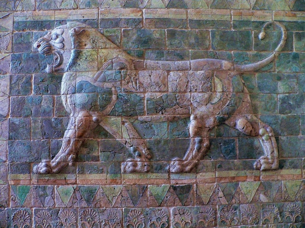 Lion Frieze from the Palace of Darius I, Persepolis 510 BC. Louvre, Paris. Photo by John Malyon