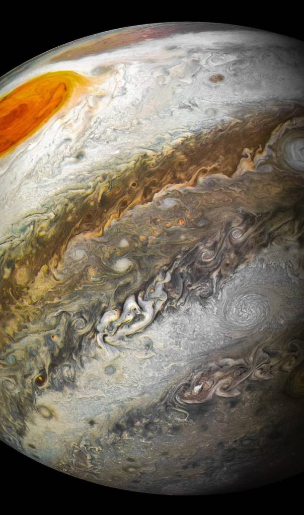 planet jupiter juno perijove 12 april 2018 nasa jpl msss swri kevin m gill 27369740758_49191662c7_k