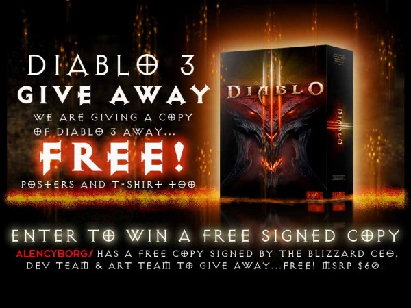 GIVE AWAY: DIABLO III  Autographed Copy Free!