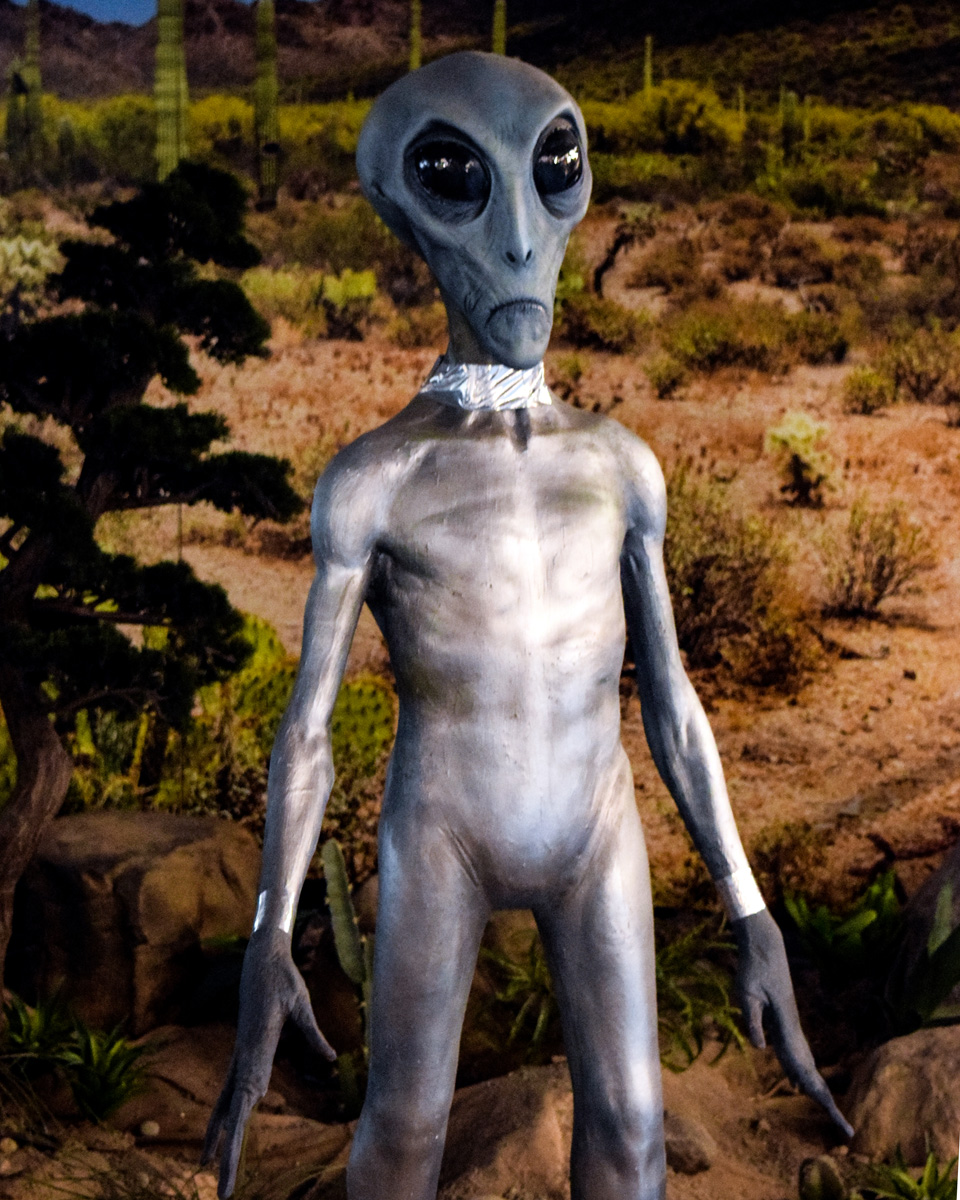 Alien on exhibit at the Roswell UFO Museum