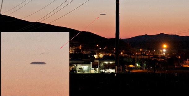 Couple photographs a UFO in Barstow California