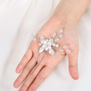 Épingles à cheveux de mariée en alliage et perle