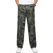 Spring Military Cargo Pants Men Loose Army Trousers Casual Breathable sweat Camouflage Pants Men High Quality Elastic Trousers