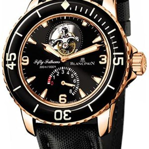 Blancpain Men's 5025.3630.52 Fifty Fathoms Tourbillon Rose Gold Watch