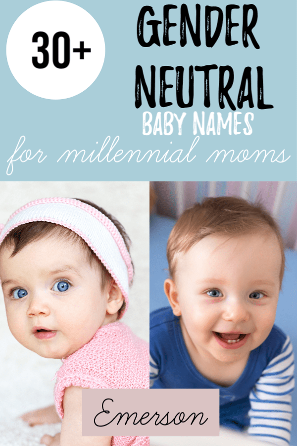 This list of unique unisex baby names is created for the millennial mom. These gender neutral names and their meanings are perfect for boys or for girls. #babynames #unisexnames
