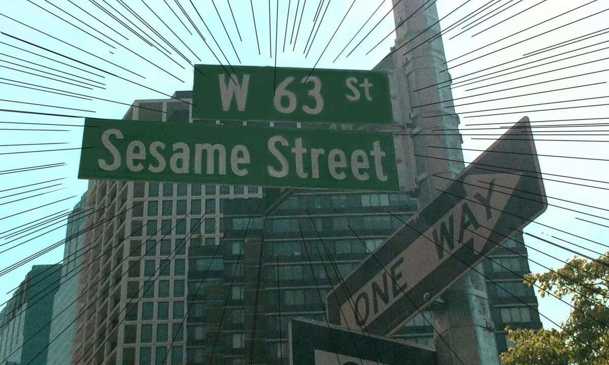 セサミストリートの標識