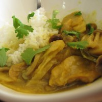 Malay chicken - water chestnuts curry
