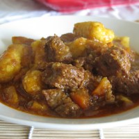 Beef Stew with light gnocchi