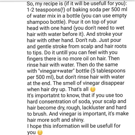 no poo hair wash