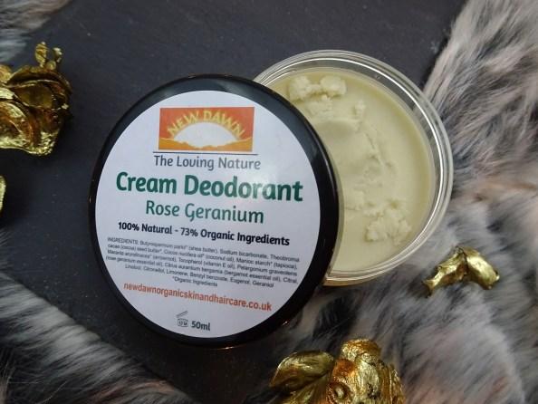 rose geranium cream deodorant