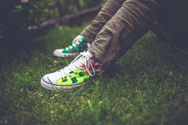 trainers on the grass - mental health in adolescents