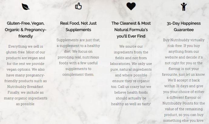 nutribuddy nutritional values