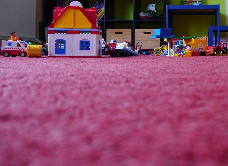 children's untidy floor