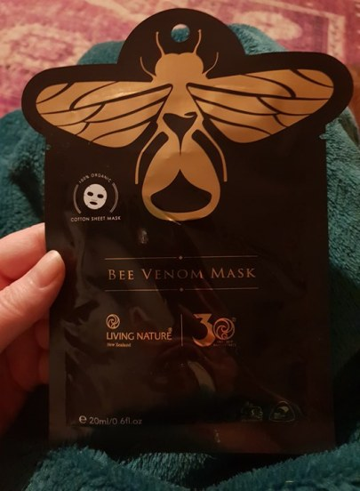 Bee venom face mask