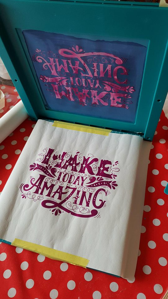 screen printing on paper