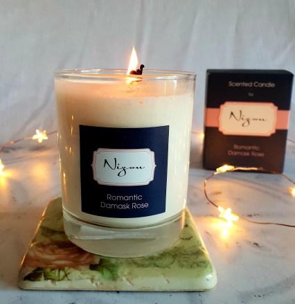 Nizou Romantic Damask Rose Scented Candle