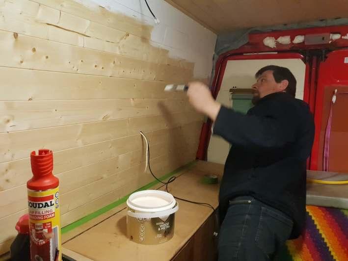 painting campervan