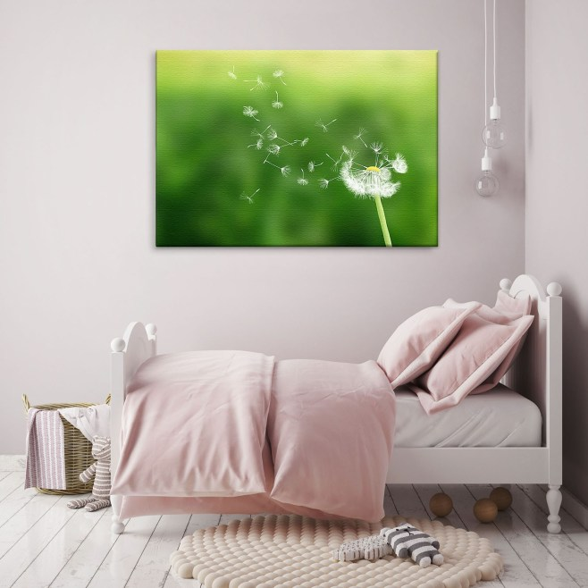 dandelion clock canvas