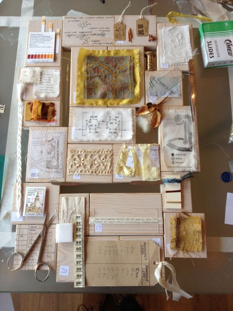 Layout of Textile Conservation commission by Ali Ferguson