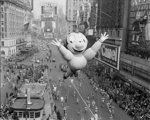 Mighty Mouse float at the Thanksgiving Day Parade