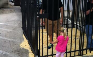Aubree Conaway sad when she sees me in the pretend jail. Taken October of 2012