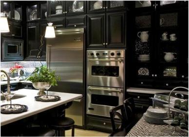 Luxury Dark Cabinetry by Kitchen Design Ideas