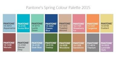 Pantone 2015 Spring Collection