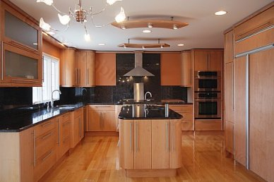 Modern Kitchen with European Style Cabinetry by Custom Cabinetry Design