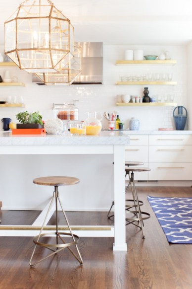 White Kitchen with Mixed Metals, StyleBluePrint