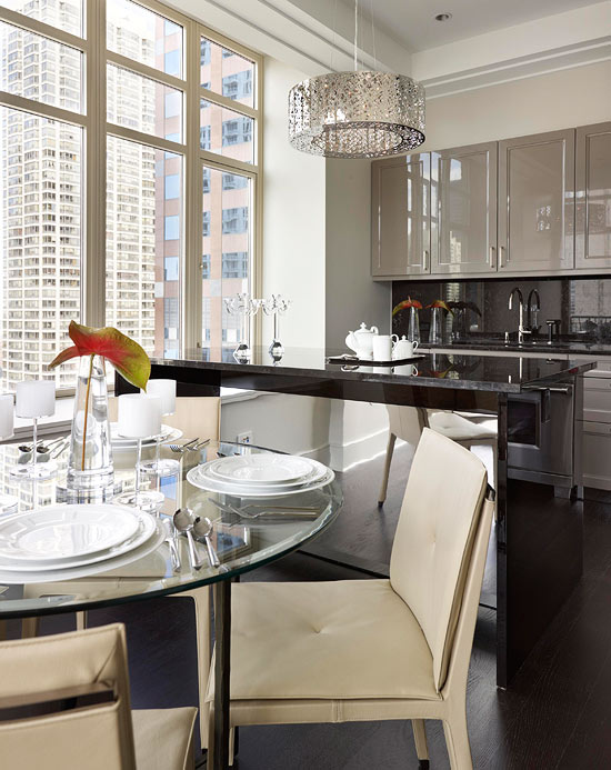 Urban Kitchen with Tall Windows, Sweeping Views with Modern Features by Mick De Giulio