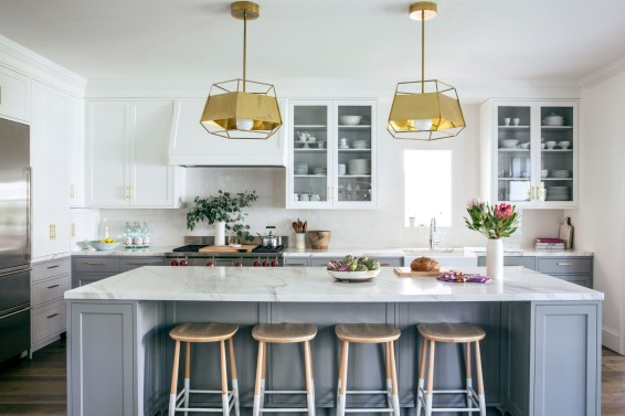 Brass Pendant Lights Add a Modern Touch, by Lauren Nelson