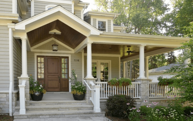 Inviting Front Porch by Siena Custom Builders Promotes Healthy Lifestyle