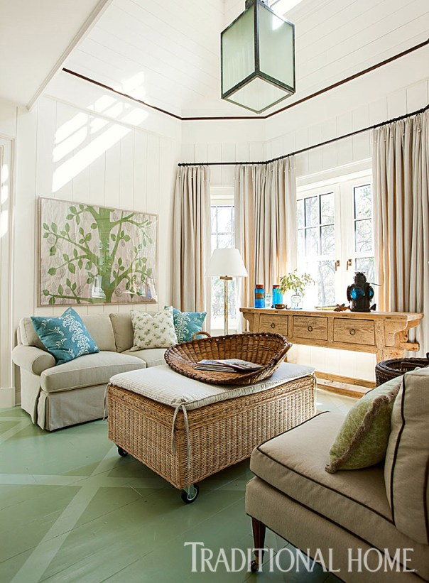 Sitting Room with Painted Floors