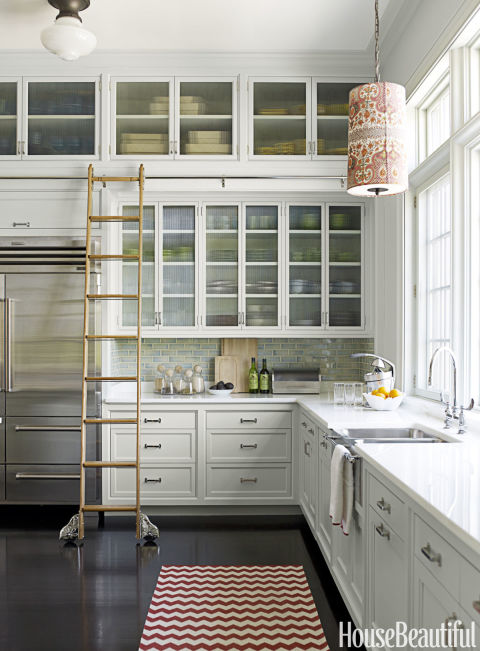 Stainless Steel Kitchen Sink with Rolling Ladder, Katie Ridder