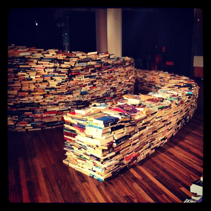 2012 08 08 Marcos Saboya and Gualter Pupo book maze @ RFH - picture by @michaelambjorn