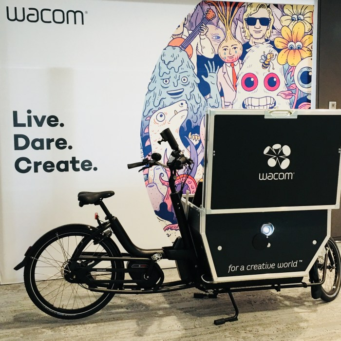 2018 #StartUpWoche - Wacom Bicycle - Live Dare Create