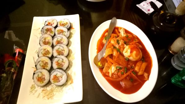 Kimbap and the Spicy Rice Cake.
