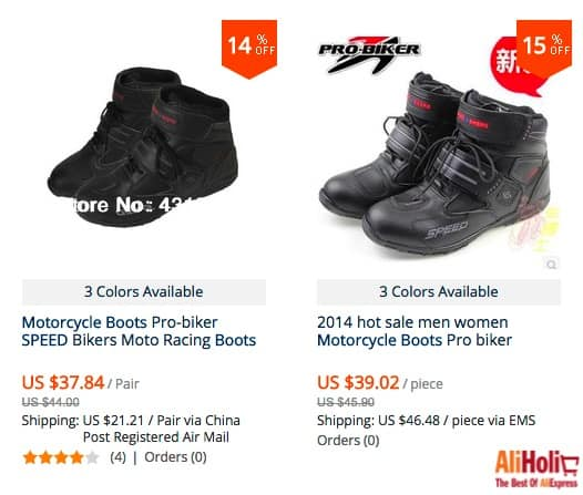 Pro Biker boots regular price with shipping