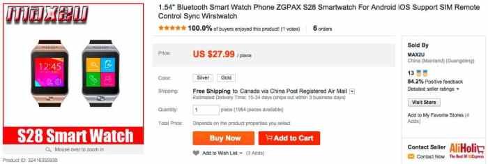 smart watch regular price