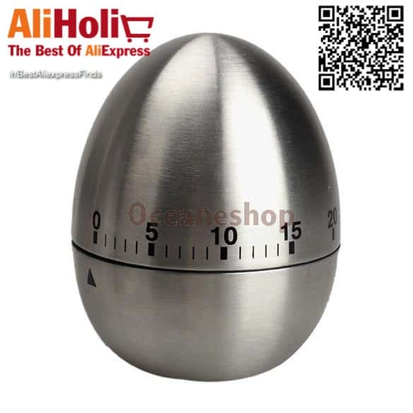 Egg shaped stainless steel cooking timer AliExpress