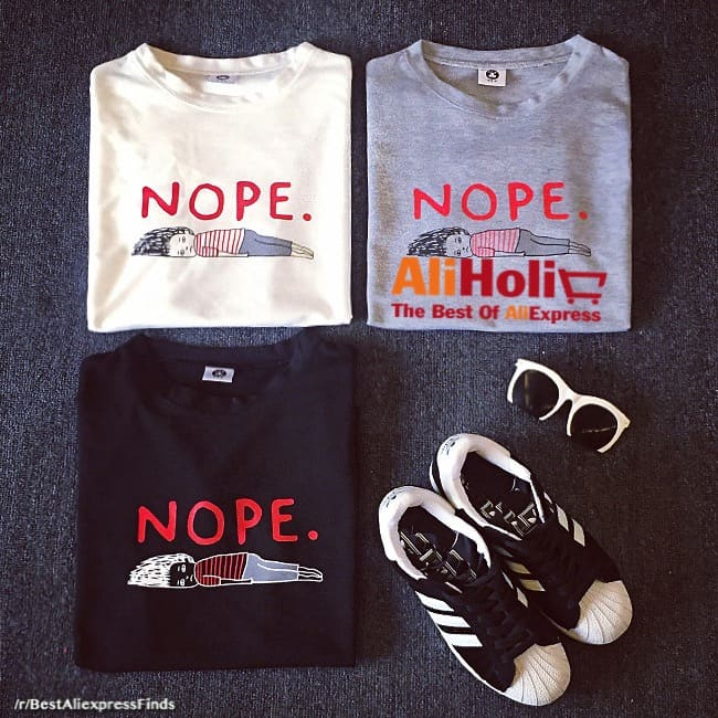 Nope summer t-shirt Aliexpress