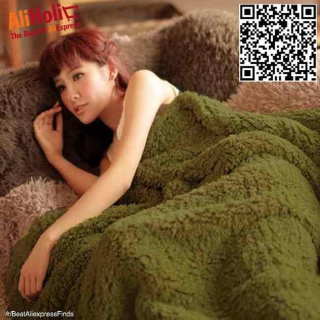 Thick plush blanket Aliexpress