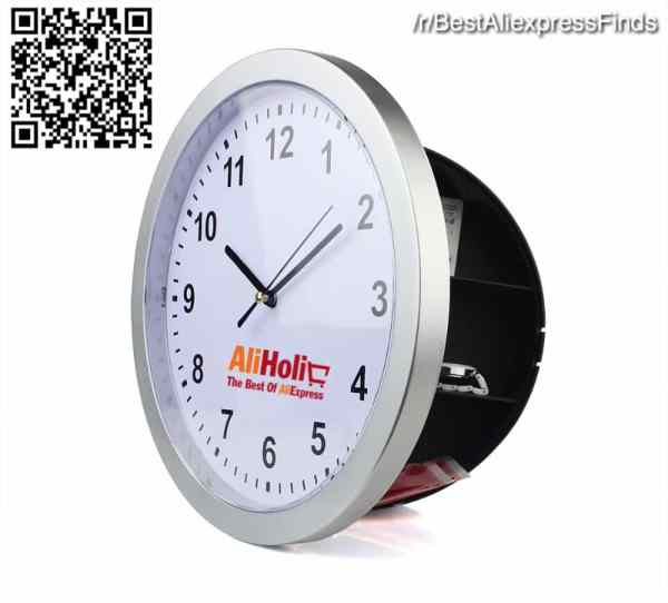 Wall clock safe deposit box Aliexpress
